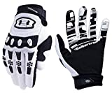 Seibertron Youth Dirtpaw BMX MX ATV MTB Racing Mountain Bike Bicycle Cycling Off-road/Dirt bike Gloves Road Racing Motorcycle Motocross Sports Gloves Touch Recognition Full Finger Glove White XS