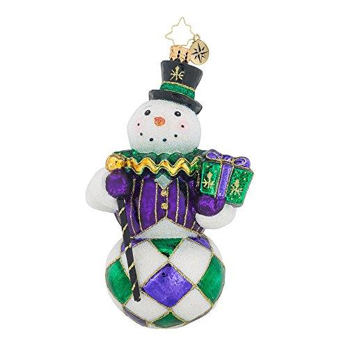 Christopher Radko Snow Nola Harlequinn Snowman Christmas Ornament