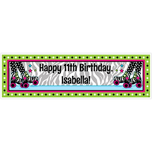 Retro Roller Skate 5 Ft. Large Personalized Banner
