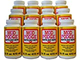 Mod Podge All-In-One Matte Glue, Sealer & Finish (Set of 12), 16 oz