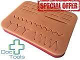 #7: Doc Tools Large Suture Pad with Wounds - Light Skin
