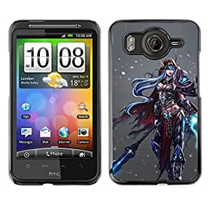For HTC Desire HD / G10 / inspire 4GCase , Game Fantasy Pc Character - Diseño Patrón Teléfono Caso Cubierta Case Bumper Duro Protección Case Cover Funda