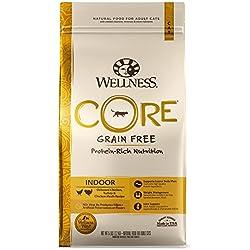 Wellness Core® Natural Grain Free Dry Cat Food, Indoor Chicken & Turkey Recipe, 5-Pound Bag
