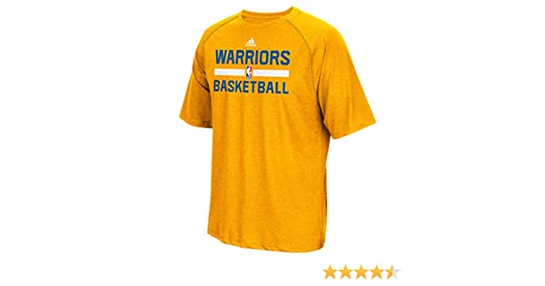 849f49a46b08 Amazon.com   Golden State Warriors Gold Adidas Climalite Practice Short  Sleeve T-shirt Medium   Sports   Outdoors