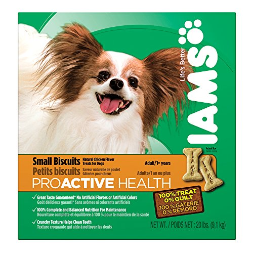 IAMS PROACTIVE HEALTH Adult Small Dog Biscuits Natural Chicken Flavor 20 Pounds by Iams