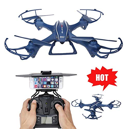 DICPOLIA Outdoor Intelligent Battery Long Control Range UDI U818S-WIFE 2.4G 6-Aixs Gyro RC Quadcopter 5.8G FPV Transmission HD Camera,RC Flying Helicopter RC Plane Toy Gift for Beginner Adults (Navy)