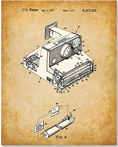 Polaroid Art Print - 11x14 Unframed Patent Print - Great for Retro Home and - Uk Store Polaroid
