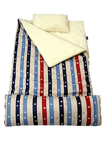 Pillow Sleepover Cases - SoHo Kids American Stars Children Sleeping Slumber Bag with Pillow and Carrying case Lightweight Foldable for Sleep Over