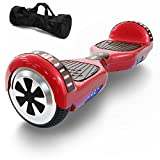 Hoverboard Self Balancing Scooter UL 2272 Certified with Powerful Bluetooth Speaker, Cool LED lights and FREE Portable Carrying Bag (Lava Red)