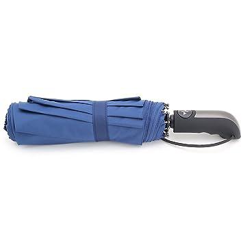 Ligero y compacto paraguas de viaje tela PONGEE negro con 8/10 costillas automático abrir