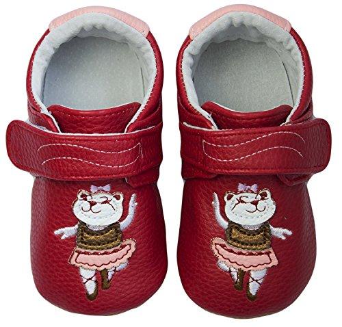 Rose & Chocolat Chaussures Bébé Ballerina Cat Violet Taille 20 cm