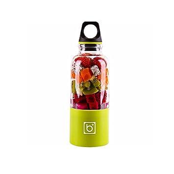 Licuadora Vaso, AOLVO USB Portátil y Recargable para Jugo de Fruta, Verdura y Milkshake, con Cable USB Charge, 500ML: Amazon.es
