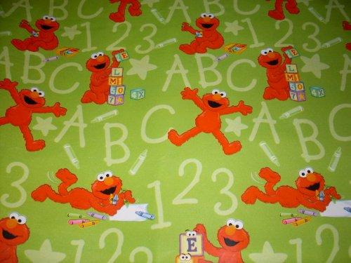 Roll Elmo (Sesame Street ELMO Gift Wrap ROLL Sheet & Pop-Up Bows - Birthday, Any Occasion)
