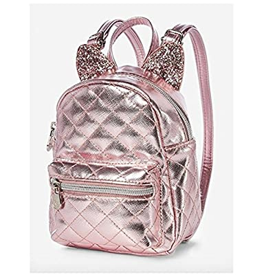 0bf5f28e2cb8 Justice Rose Gold Cat Quilted Tiny Mini Backpack durable modeling ...