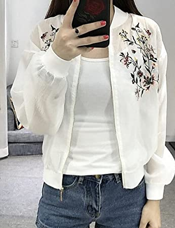 d177842778c3 zhENfu Women s Casual Daily Simple Cute Summer Jacket