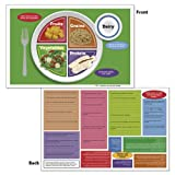 """Nasco Fort Atkinson MyPlate Tear Pad and Place Mat, 17"""" Length x 11"""" Width (50 Sheets)"""