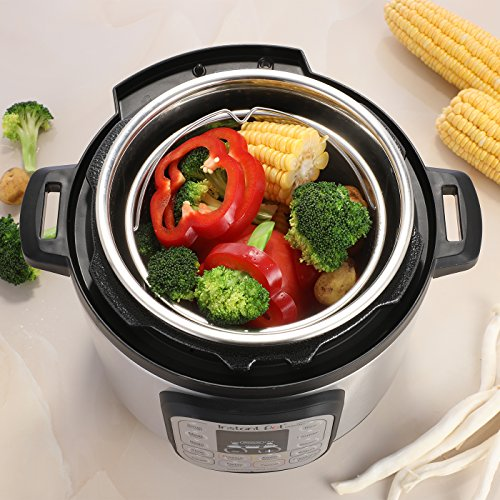 Aozita Steamer Basket for Instant Pot Accessories 3 Qt - Stainless Steel Steam Insert with Premium Handle for 3 Quart Pressure Cookers - Vegetables, Eggs, Meats, etc by Aozita (Image #2)