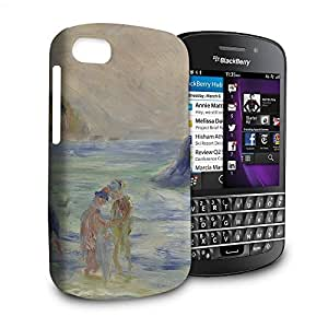 Phone Case For Blackberry Q10 - Renoir Guernsey Art Painting Hardshell Wrap-Around by lolosakes