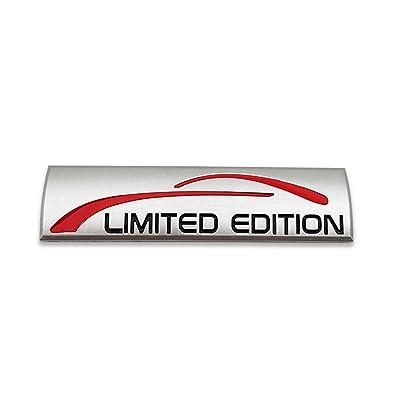 Chrome Metal Limited Edition Logo Car Emblem Premium 3D Badge Auto Rear Trunk Sticker Side Fender Decal (Matte Silver): Automotive