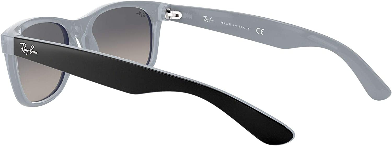 Ray-Ban New Wayfarer Montures de lunettes Mixte Noir (Matte Black On Opal Ice)