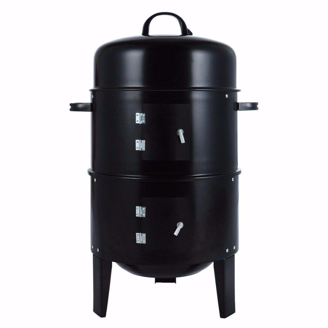 xxguo Charcoal Water Smoker Grill Outdoor BBQ Barbecue Cooker Backyard Camping Patio