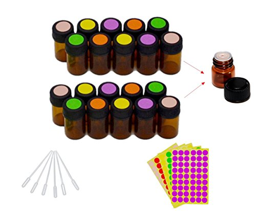 2-ml-5-8-dram-amber-glass-vials-bottles-for-essential-oil-with-orifice-reducer-come-with-blank-lable