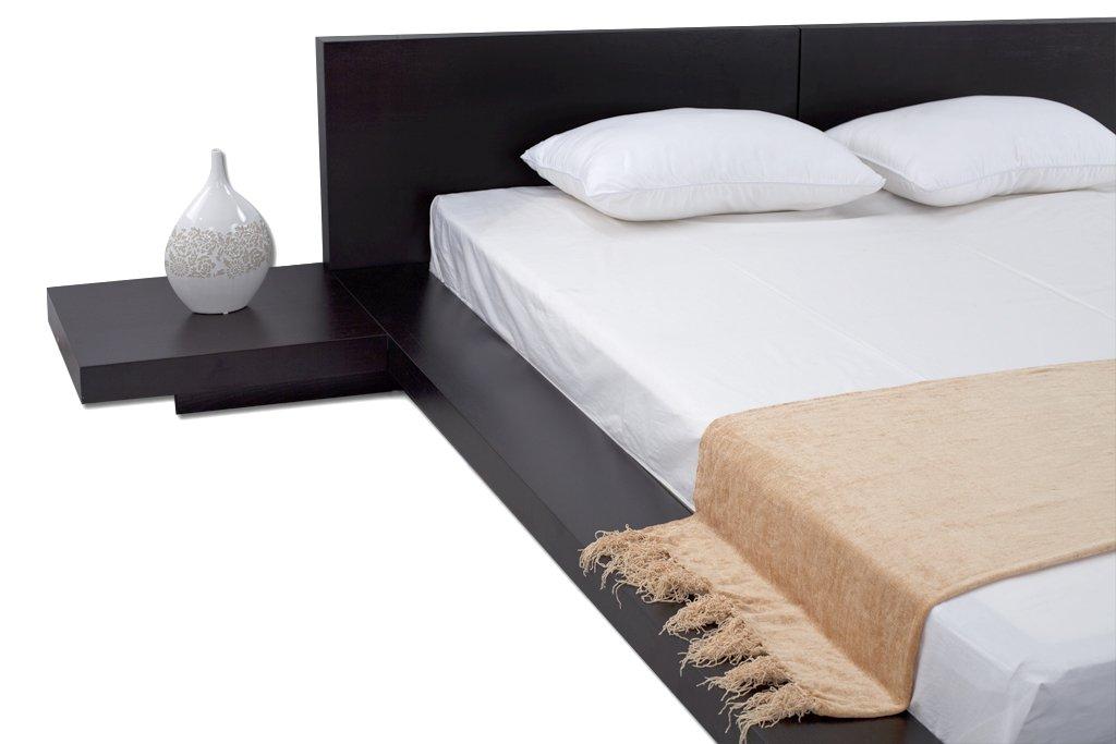 Delightful Amazon.com: Fujian Modern Platform Bed + 2 Night Stands Queen (Espresso):  Kitchen U0026 Dining