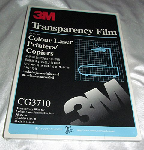 3m Transparency Film CG 3710 Color Laser Printers Copiers 50 (3m Highland Transparency Film)