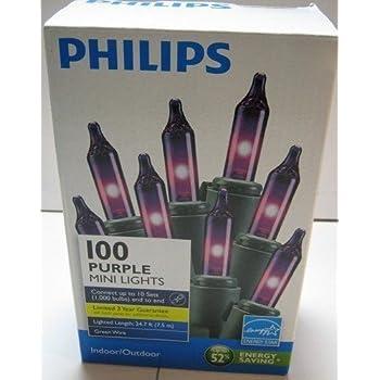 Amazon Com Philips 100 Purple Mini Lights Home Amp Kitchen