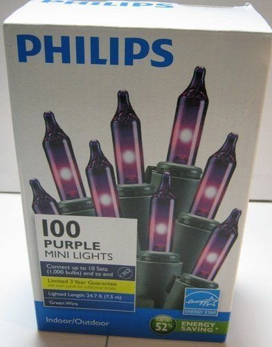 Philips 100 Purple Mini Lights