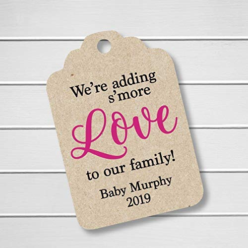 We're Adding S'more Love To Our Family! Kraft Baby Shower/Announcement Favor Tags -