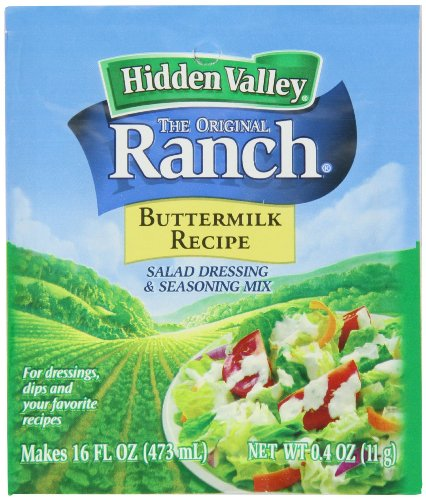Hidden Valley - Original Ranch - Buttermilk Recipe - Salad Dressing & Seasoning Mix - Makes 16 FL OZ (473 mL) - Net Wt. 0.4 OZ (11 g) - Pack of 5 Packets