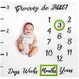 Baby Monthly Milestone Blanket Boy Girl Photo Gift Set...