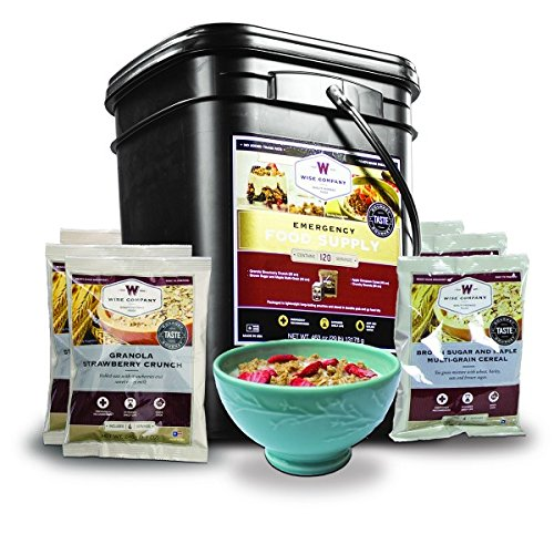 Wise Company, Emergency Food Supply, Freeze-Dried Breakfast Variety, 120 Servings (Best Freeze Dried Food Company)