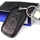 Cadtealir absortive baby Calfskin Genuine Leather Maserati Levante Ghibli Quattroporte GranTurismo GranCabrio key fob cover case holder