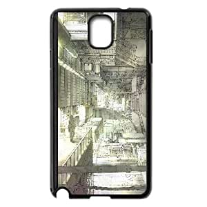 Intricate Building Anime Protective Case For Samsung Galaxy Note 3 Cell Phone Case Black