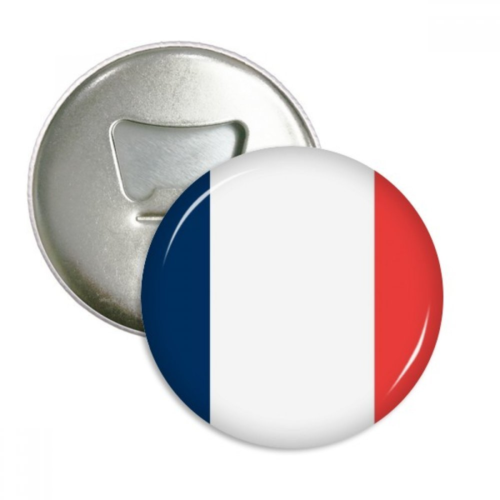 France National Flag Europe Country Round Bottle Opener Refrigerator Magnet Pins Badge Button Gift 3pcs by DIYthinker (Image #1)