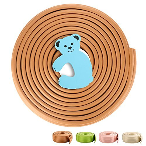 UPC 600978761912, GAGAKU Universal 15 ft Edge Protector with Foam Door Stoppers 3M Adhensive Child Safety Kit - Dark Wood