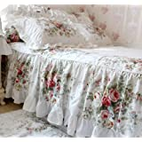 Shabby Blue Floral Bed Sheet Set Fadfay