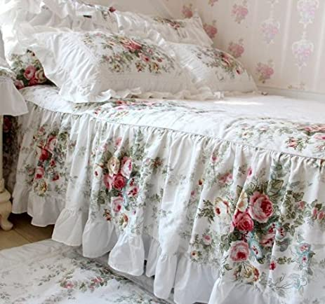 fadfay elegant and shabby floral bedding set twin full queen king 4 pieces duvet cover sets