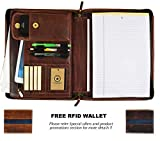 Leather Portfolio | Zipper Binder Planner 2018-2019 | Tablet Holder By Aaron Leather