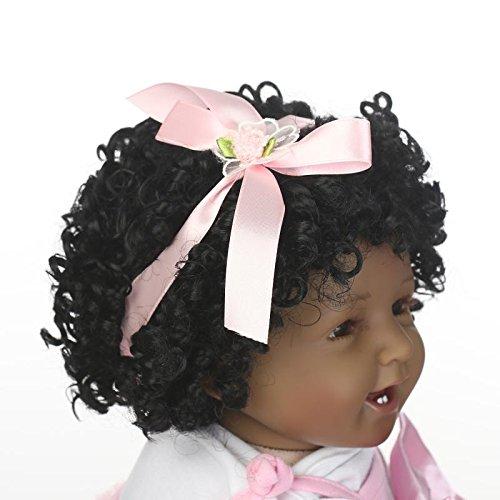 Amazon.es: NPK Collection - Peluca de pelo rizado para recién nacido, de silicona, color negro: Juguetes y juegos