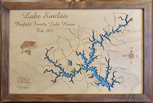 Lake Sinclair Mix Media Art