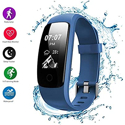Watch Fashion Fitness Tracker H107 Waterproof Activity Tracker Smart Wristband with Heart Rate Monitor Pedometer Sleep Tracker Calorie Counter Multiple Sport Mode for Kids Men Women Estimated Price £85.76 -