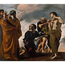 Oil Painting 'Moses And The Messengers From Canaan, 1621 - 1624 By Giovanni Lanfranco' Printing On High Quality Polyster Canvas , 12x14 Inch / 30x35 Cm ,the Best Garage Gallery Art And Home Decor And Gifts Is This Reproductions Art Decorative Prints On Canvas