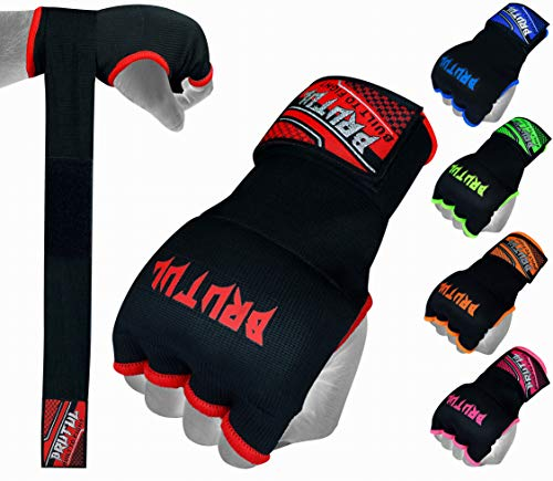 Brutul Padded Inner Gel Gloves Training Gel Elastic Hand Wraps for Boxing Gloves Quick Wraps Men & Women Kickboxing Muay Thai MMA Bandages Wrist Wrap Protector Handwraps (Pair)