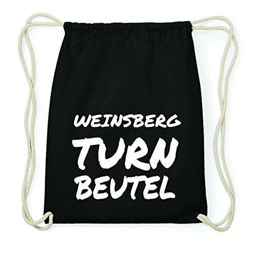 JOllify WEINSBERG Hipster Turnbeutel Tasche Rucksack aus Baumwolle - Farbe: schwarz Design: Turnbeutel i6fGkvjL