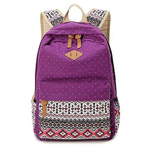 JSbetter - Bolso mochila para mujer multicolor azul claro morado