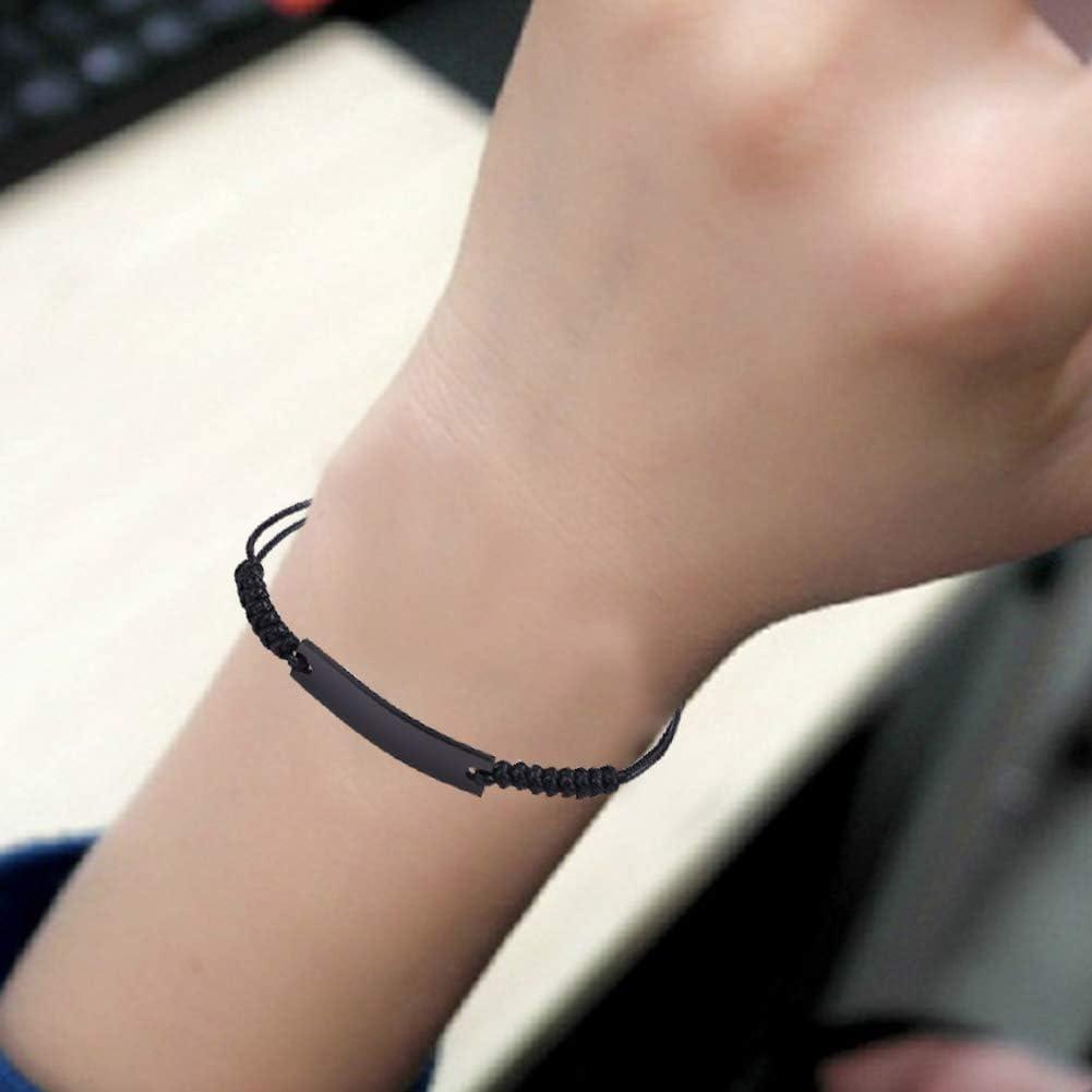 Homme Bracelet en corde Bracelet Rivi/ère R/églable Bracelet tiss/é avec Joint en Acier Inoxydable magn/étique