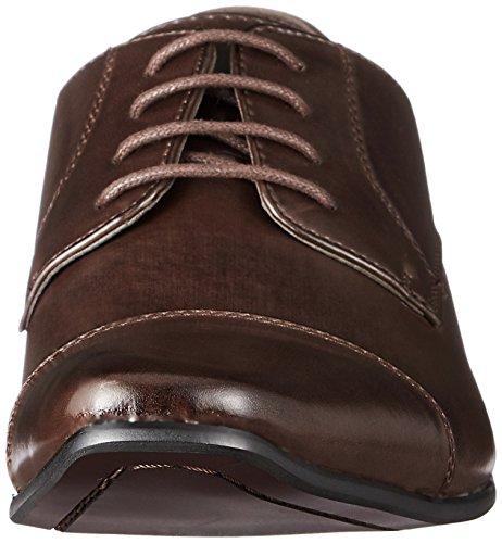Mm / One Mens Blucher Derby Chaussures Pour Hommes Cap Toe Oxford Chaussures Habillées Chaussures Formelle Noir Marron Foncé Marron Foncé